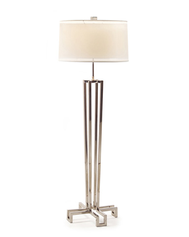 John Richard Collection - Polished Stainless Floor Lamp - JRL-8349