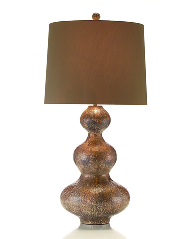 John Richard Collection - Hammered Copper Triple Gourd Lamp - JRL-8384