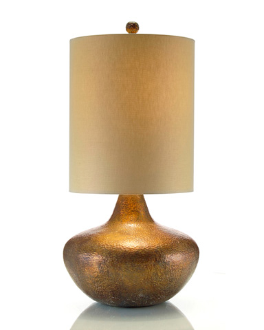 John Richard Collection - Hammered Copper Lamp - JRL-8385