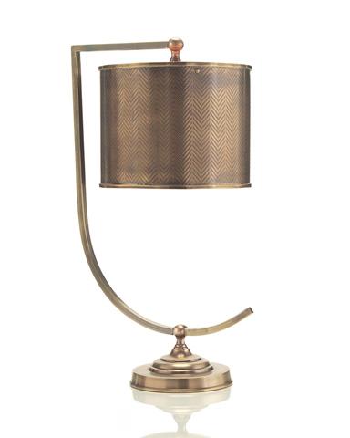 John Richard Collection - Bent Arm Brass Lamp - JRL-8516