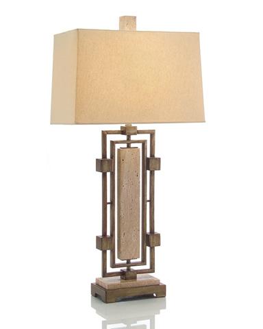 John Richard Collection - Honed French Limestone Table Lamp - JRL-8674