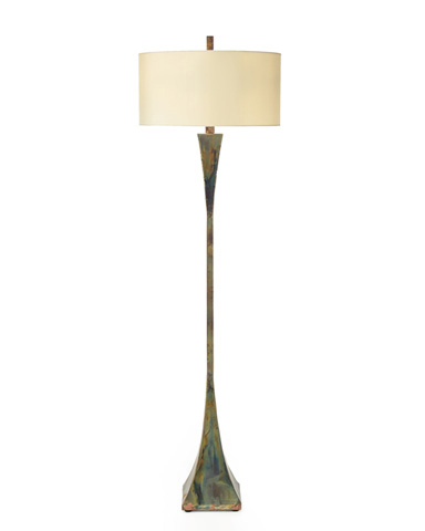 John Richard Collection - Heat Treated Brass Floor Lamp - JRL-8849