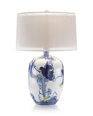 John Richard Collection - Blue Asian Gardens Table Lamp - JRL-8854
