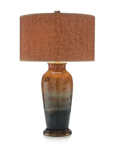 John Richard Collection - Earth Tone Ceramic Lamp - JRL-8918