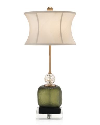 John Richard Collection - Green Glass Buffet Lamp - JRL-8929