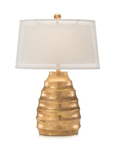 John Richard Collection - Midas Ripple Gold Lamp - JRL-8938
