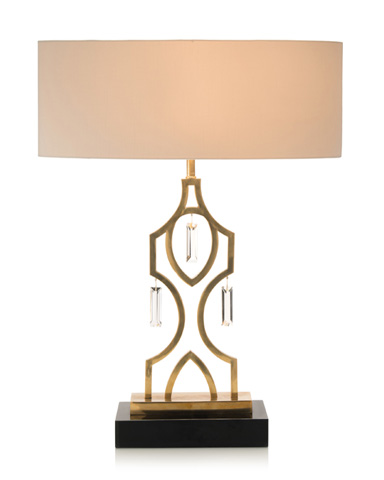 John Richard Collection - Nauajo Honey Brass Lamp - JRL-8944
