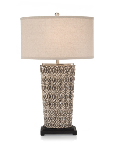 Image of Geometric Design Ceramic Lamp