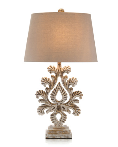 John Richard Collection - Carved Fleur-De-Lis Table Lamp - JRL-9005