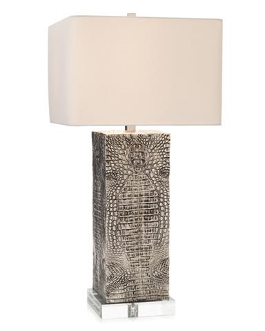 John Richard Collection - Embossed Croc Table Lamp - JRL-9051