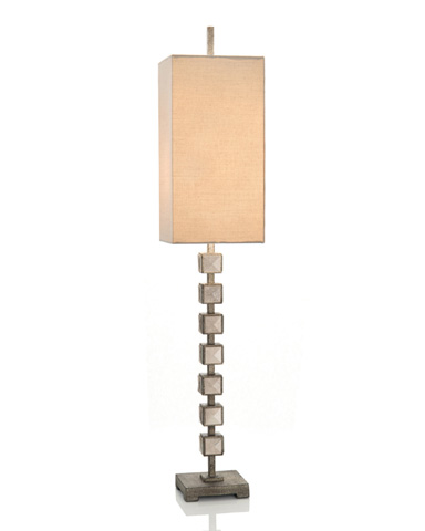 John Richard Collection - Mirror Blocks Buffet Lamp - JRL-9063