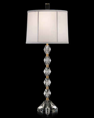 John Richard Collection - Faceted Crystal Stack Buffet Lamp - JRL-9107