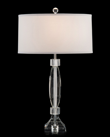John Richard Collection - Crystal Hexagonal Column Table Lamp - JRL-9110