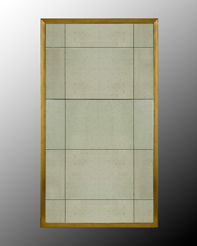 John Richard Collection - Eglomise Mirror with Gold Frame - JRM-0109