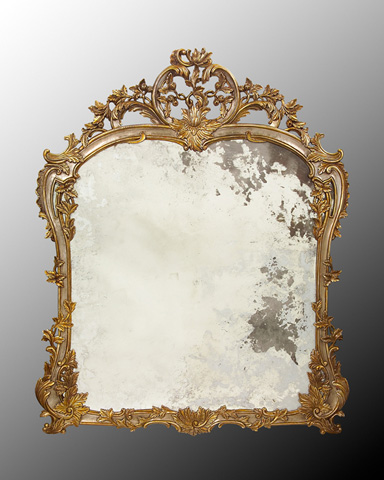 John Richard Collection - Louis XV Hand Carved Mirror - JRM-0463