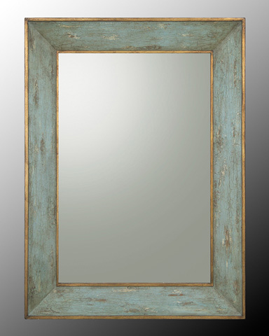 John Richard Collection - Mirror in French Blue and Gold Frame - JRM-0569