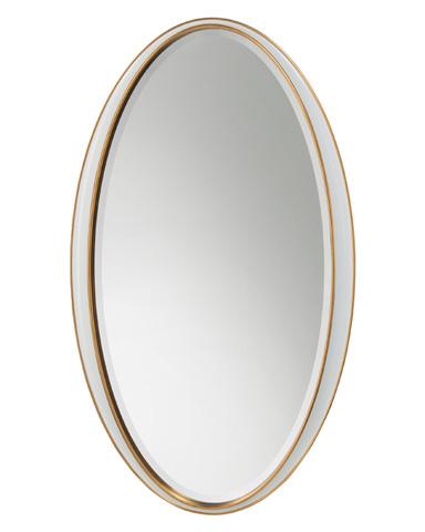 John Richard Collection - White Oval Framed Mirror - JRM-0735