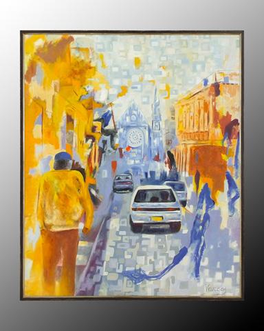John Richard Collection - Vargas Street Scene - JRO-2025