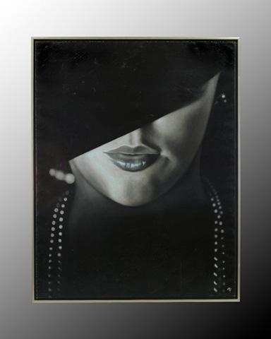 John Richard Collection - Renaud Femme Au Chapeau Noir - JRO-2033