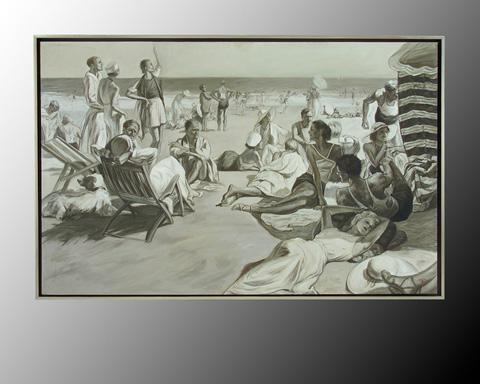 John Richard Collection - Renaud Party at the Beach - JRO-2097