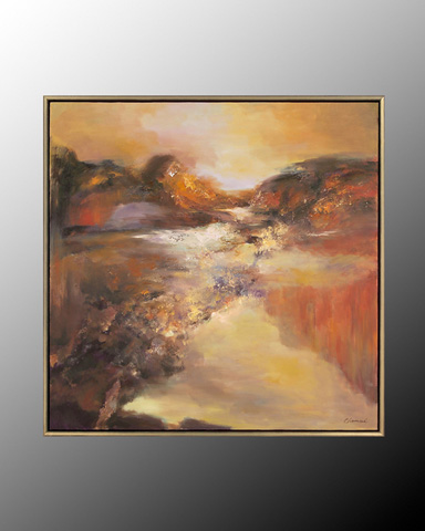 John Richard Collection - Chen Qi Umber Mountain - JRO-2435