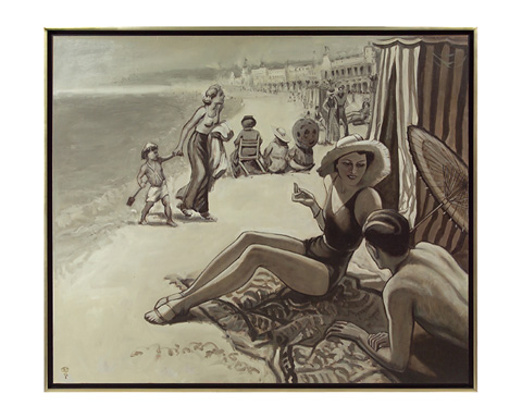 John Richard Collection - Day at Beach by Roland Renaud - JRO-2634