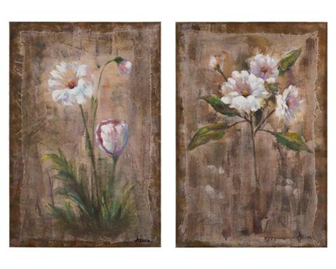 John Richard Collection - Azure's White Flowers - JRO-2660S2