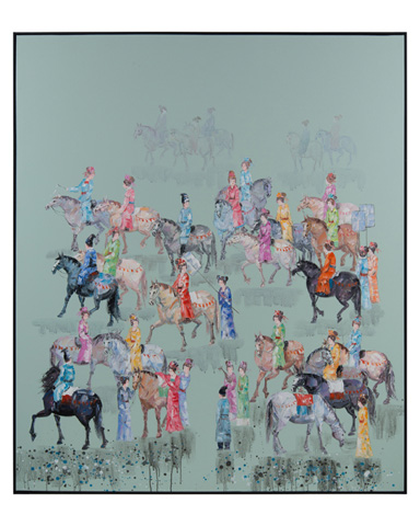 John Richard Collection - Teng Fei's Polo Players - JRO-2721
