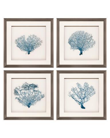 John Richard Collection - Blue Fan Coral I - GBG-1161S4