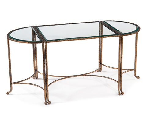 John Richard Collection - Three Piece Gold Finish Table - JFD-0059