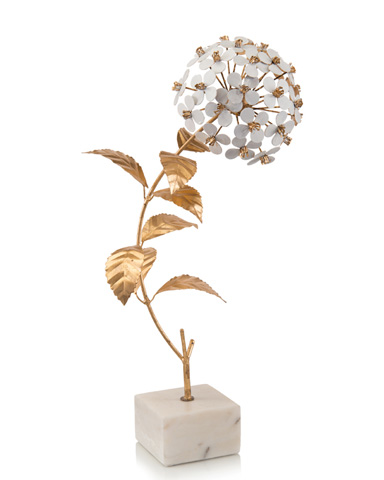John Richard Collection - Hydrangea In Gold And White - JRA-10010