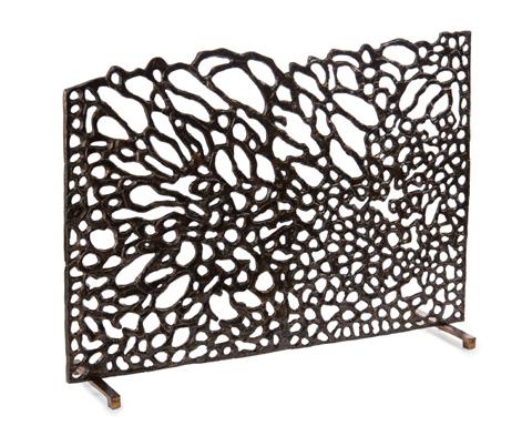 John Richard Collection - Organic Fire Screen In Bronze - JRA-10014