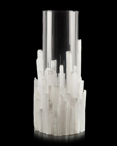 John Richard Collection - Natural Selenite Vase - JRA-10038