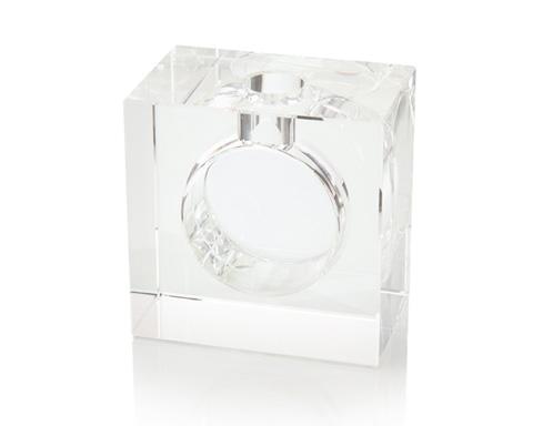 John Richard Collection - Block and Sphere Crystal Vase - JRA-9911