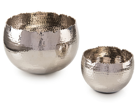 John Richard Collection - Set Of 2 Nickel Bowls - JRA-9942S2