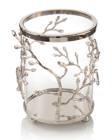 John Richard Collection - Silver Bud Entwined Candleholder - JRA-9969
