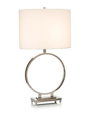 John Richard Collection - Nickel Ring Table Lamp - JRL-9177