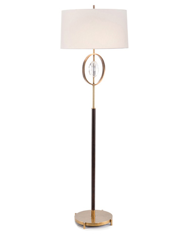 John Richard Collection - Crystal And Brass Floor Lamp - JRL-9193