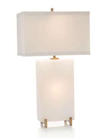 John Richard Collection - Alabaster Block Table Lamp - JRL-9196