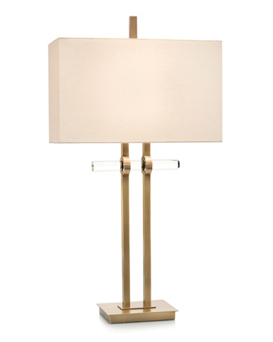 John Richard Collection - Brass and Glass Buffet Lamp - JRL-9233