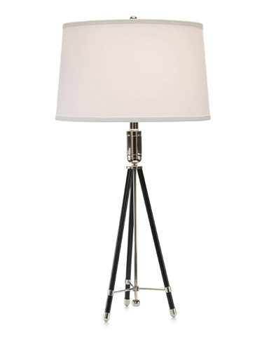 John Richard Collection - Ebony And Nickel Tripod Table Lamp - JRL-9237