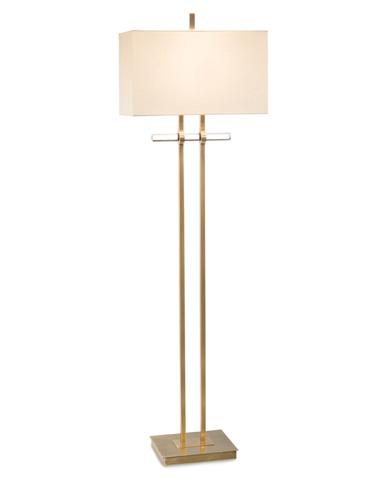 John Richard Collection - Brass And Glass Floor Lamp - JRL-9241