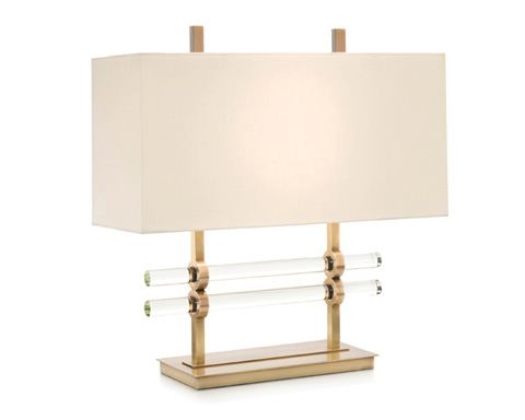 John Richard Collection - Brass And Glass Table Lamp - JRL-9244