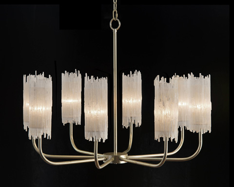 John Richard Collection - Natural Selenite Shaded Chandelier - AJC-8873