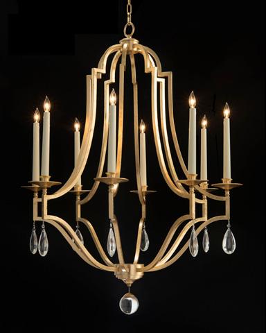 John Richard Collection - Gold Leaf Crystal Chandelier - AJC-8877