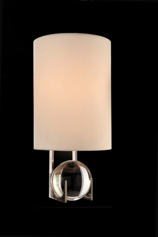 John Richard Collection - Polished Nickel Crystal Wall Sconce - AJC-8897