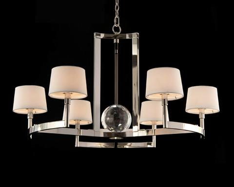 John Richard Collection - Polished Nickel Crystal Chandelier - AJC-8898