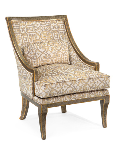 John Richard Collection - Barrel Back Chair - AMF-1005V10-1041-AS