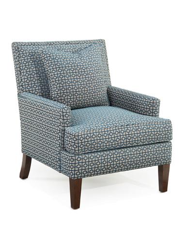 John Richard Collection - Track Arm Chair With Nail Trim - AMQ-1107Q01-2044-AS