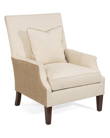 John Richard Collection - High Back Scoop Arm Club Chair - AMQ-1112Q01-1005-AS